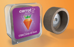 Carrot Purple Synthetic Stone
